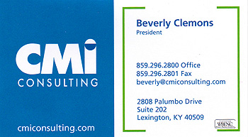 Beverly Clemons, CMI Consulting